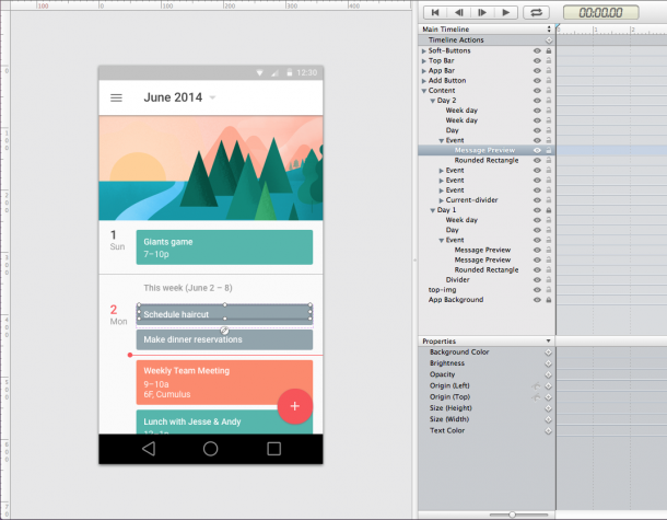 Android L UI completed