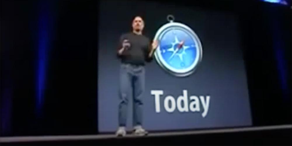 Steve Jobs releasing Safari
